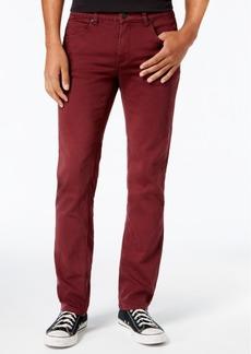 Ezekiel Men's Now Slim-Fit Stretch Burgundy Denim Pants