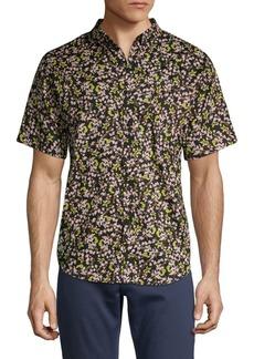 Ezekiel Floral Short-Sleeve Button-Down Shirt