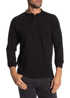 Ezekiel Jaymes Stripe Henley Long Sleeve T-Shirt