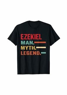 Mens EZEKIEL Man Myth Legend Vintage First Name Tee T-Shirt
