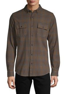 Ezekiel Plaid-Print Long-Sleeve Shirt