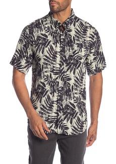 Ezekiel Survivor Leaf Print Short Sleeve Regular Fit Shirt