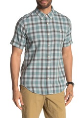 Ezekiel Waves Plaid Flannel Short Sleeve Regular Fit Shirt