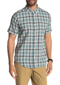 Ezekiel Waves Plaid Flannel Short Sleeve Regular Fit Shirt