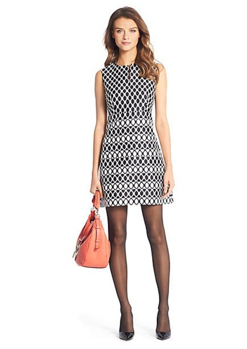 Diane Von Furstenberg Yvette Diamond Print A-Line Mini Dress
