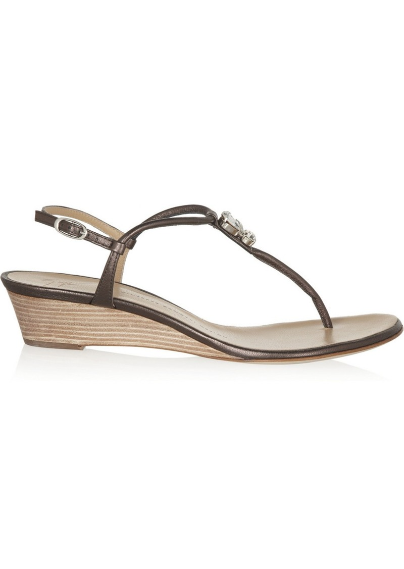 Giuseppe Zanotti Carolina metallic leather sandals