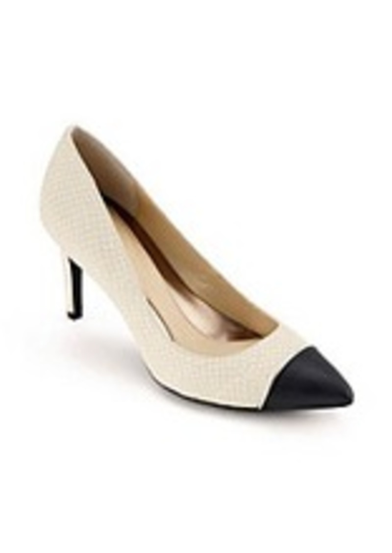"Calvin Klein ""Nalene"" Cap-toe Dress Pumps"