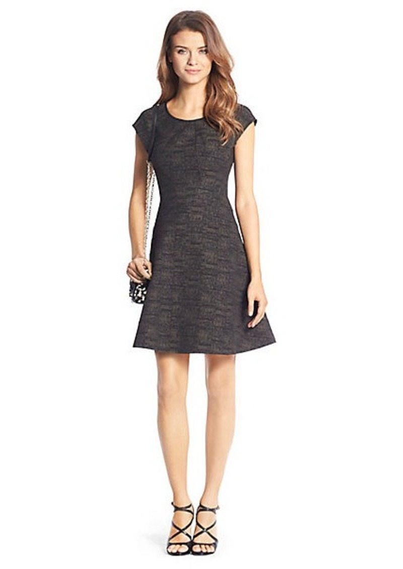 Diane Von Furstenberg Rebecca Printed Flirty Knit Dress