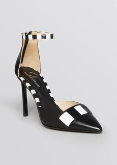 Delman Pointed Toe Pumps - Bijou High Heel