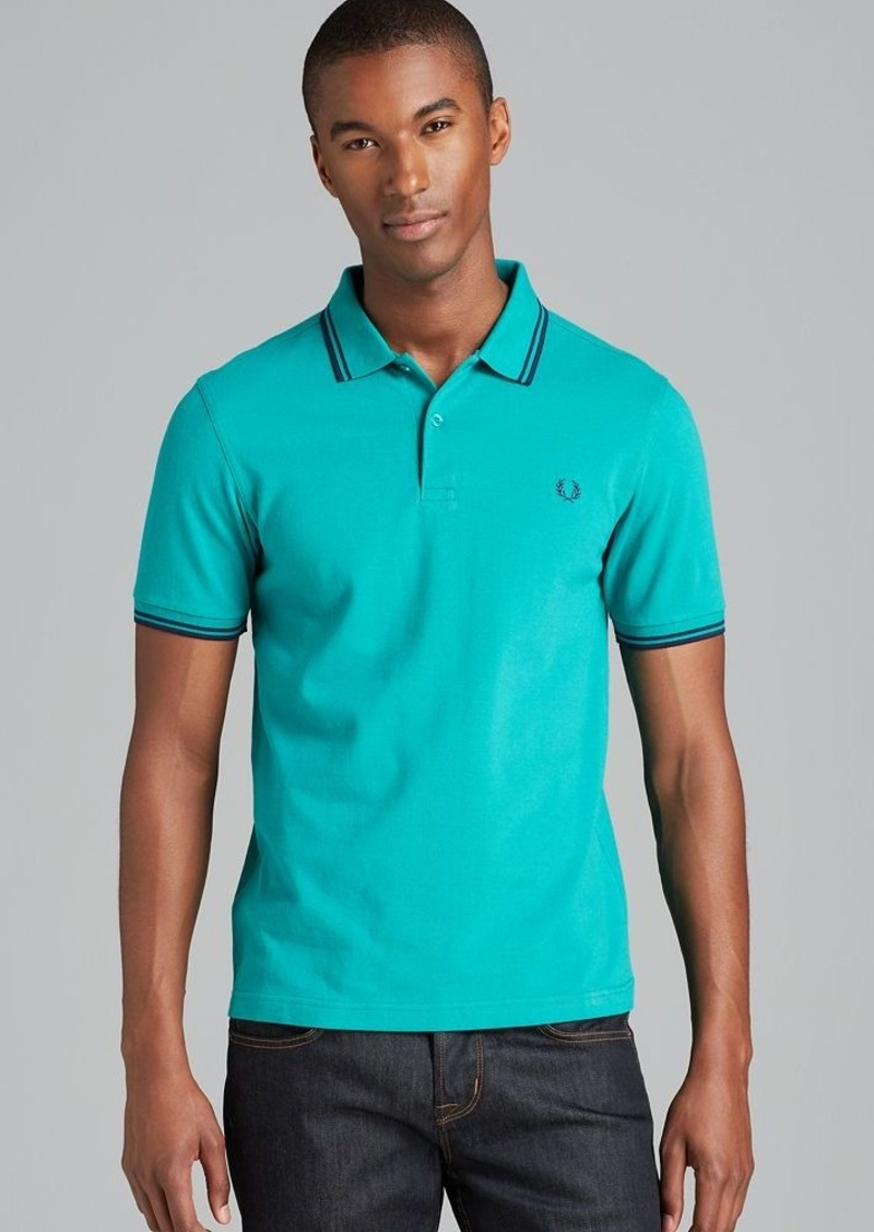 fred perry fred perry twin tipped polo shirt slim fit. Black Bedroom Furniture Sets. Home Design Ideas