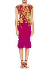 Jean Paul Gaultier Tulle Peplum Skirt, Magenta