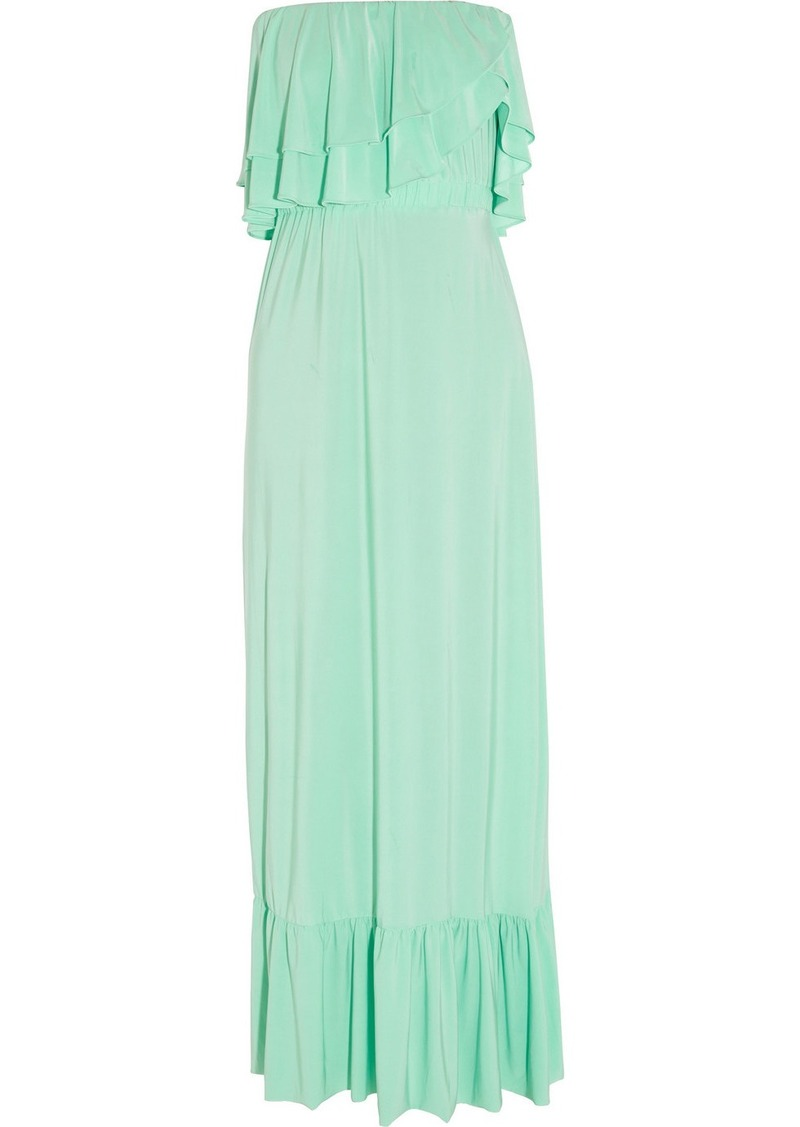 T-Bags Ruffled stretch-jersey maxi dress
