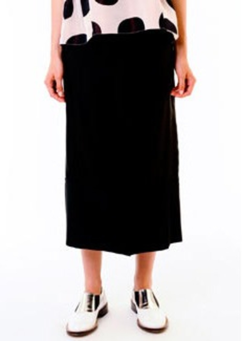 Marni Mid-Calf Twill Skirt, Black