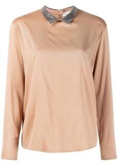 Fabiana Filippi ball-chain collar blouse