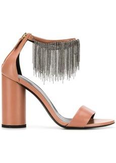 Fabiana Filippi ball chain fringe sandals