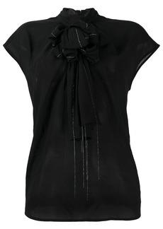 Fabiana Filippi ball chain trimmed blouse