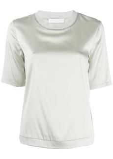 Fabiana Filippi bead-embellished satin T-shirt