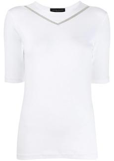 Fabiana Filippi bead-trimmed ribbed T-shirt