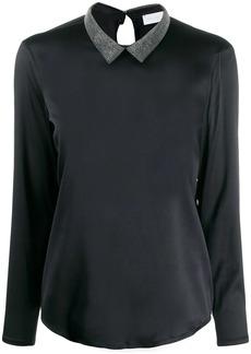 Fabiana Filippi beaded collar blouse