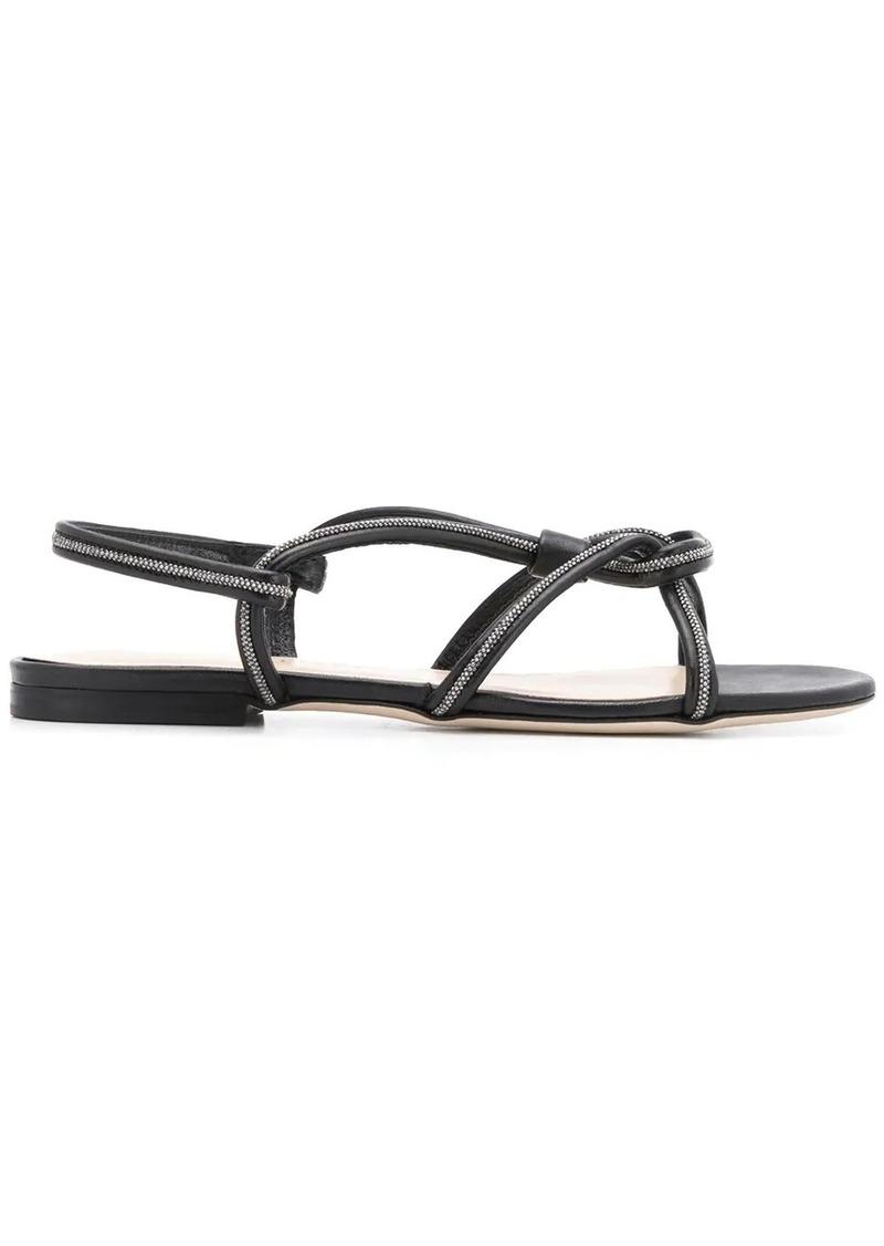 Fabiana Filippi beaded-knot leather sandals