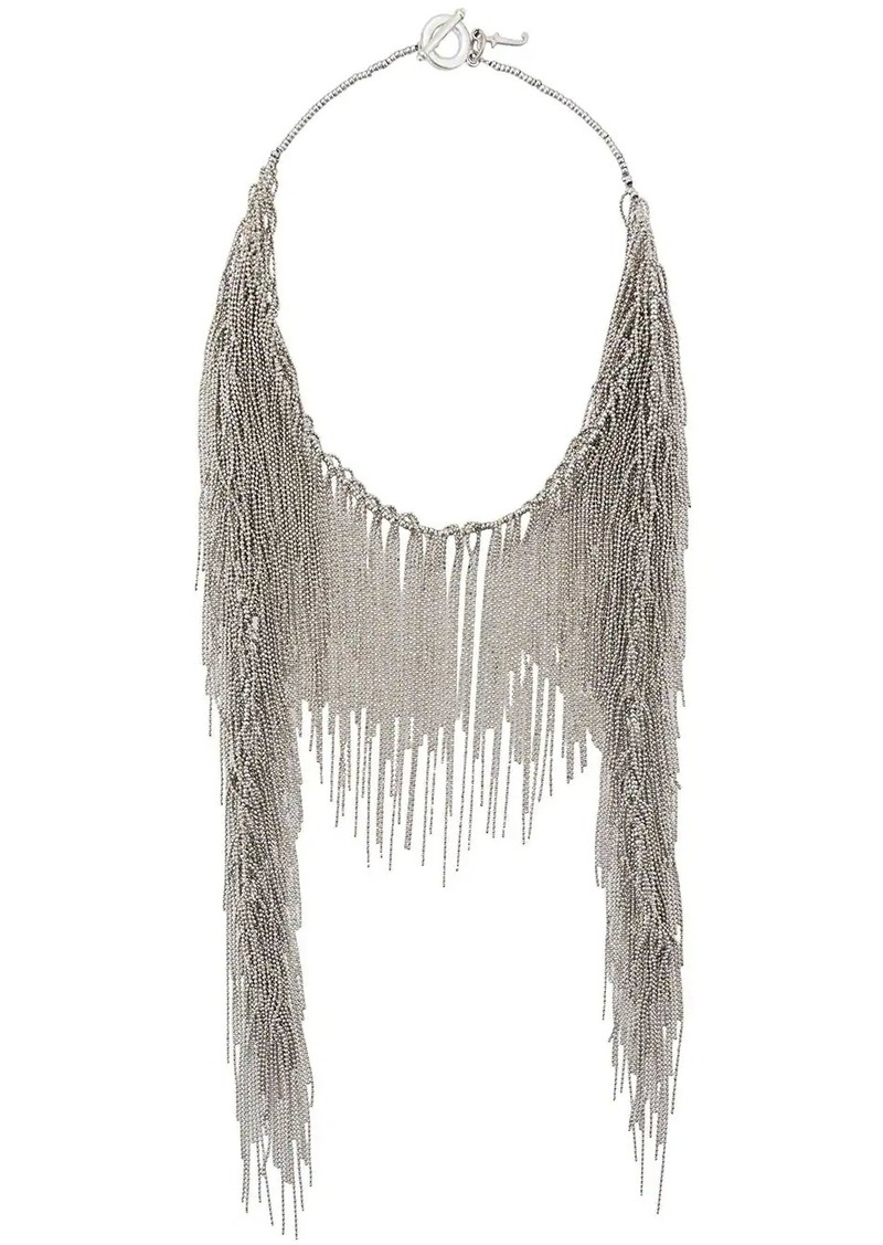 Fabiana Filippi beaded long pendant necklace