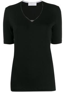 Fabiana Filippi beaded-notch T-shirt
