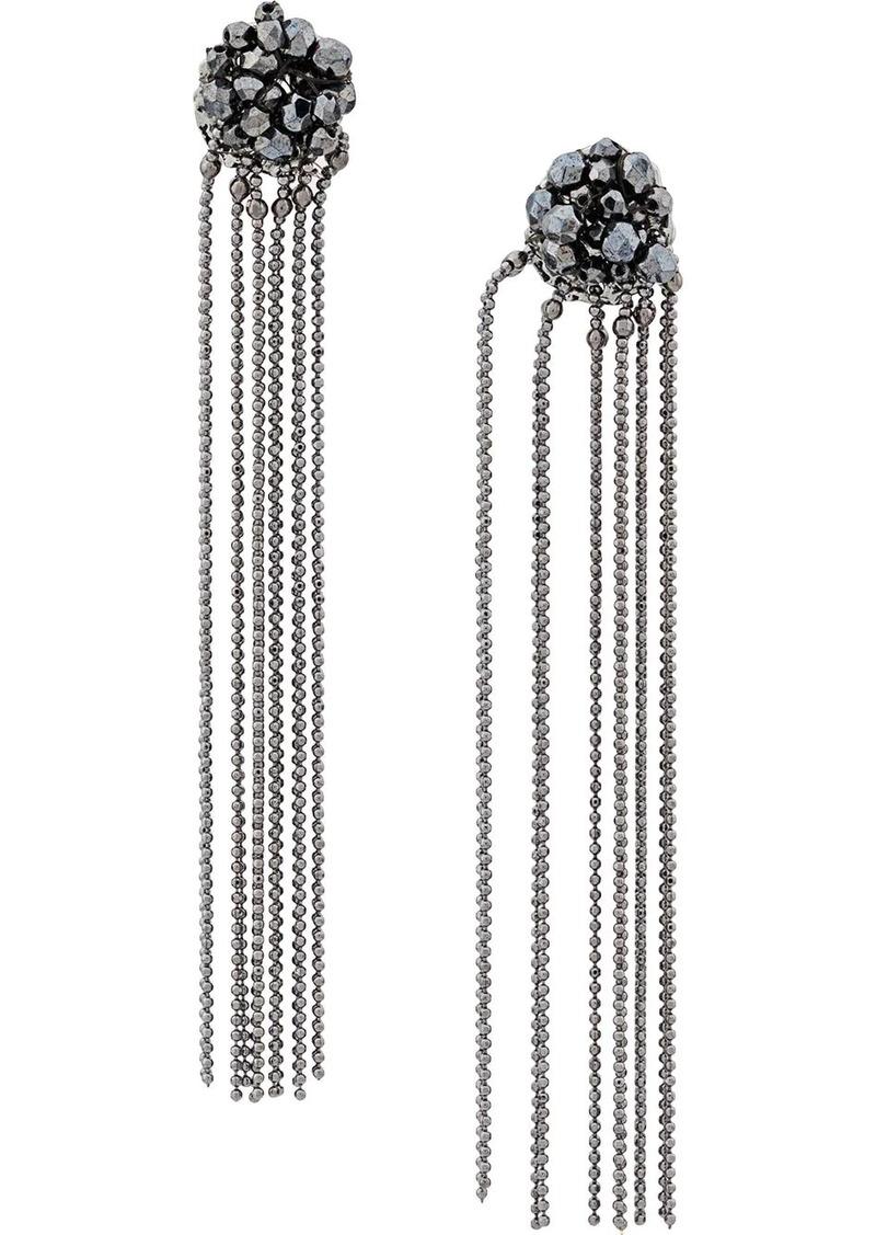 Fabiana Filippi beaded pendant earrings