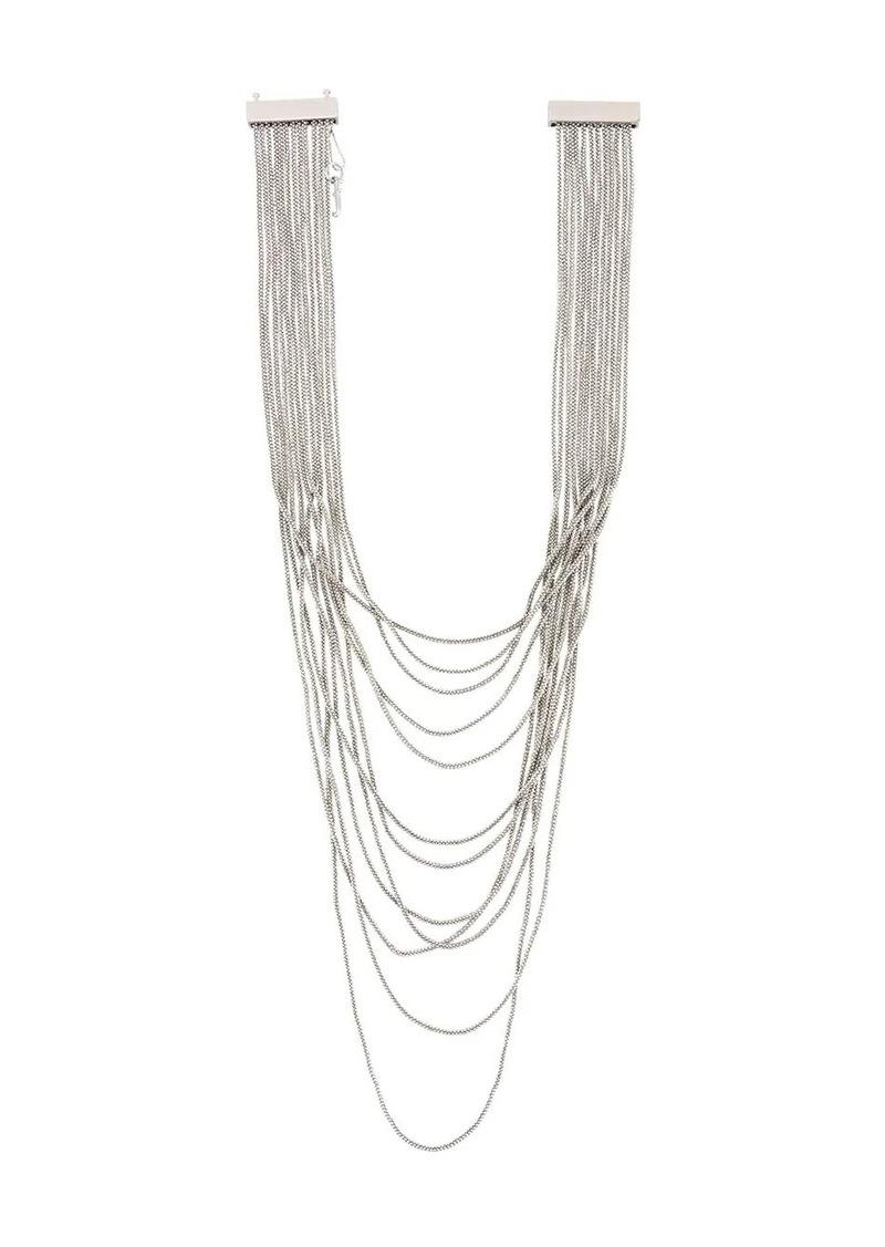 Fabiana Filippi beaded waterfall necklace
