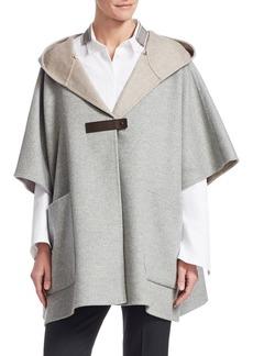 Fabiana Filippi Cashmere & Wool Poncho Coat