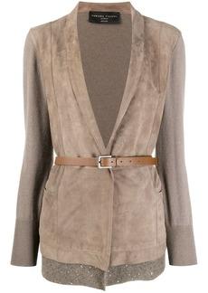 Fabiana Filippi contrast panel blazer
