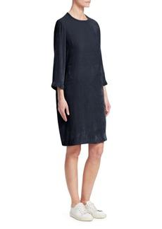 Fabiana Filippi Crushed Velvet Shift Dress