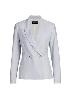 Fabiana Filippi Double Breasted Seersucker Jacket