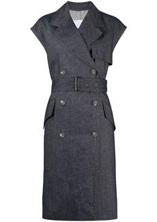 Fabiana Filippi double-breasted sleeveless coat