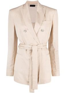 Fabiana Filippi double-breasted tied-waist jacket