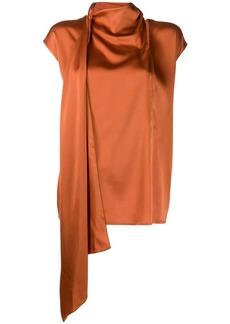 Fabiana Filippi draped neck blouse