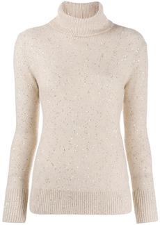 Fabiana Filippi embellished roll neck jumper