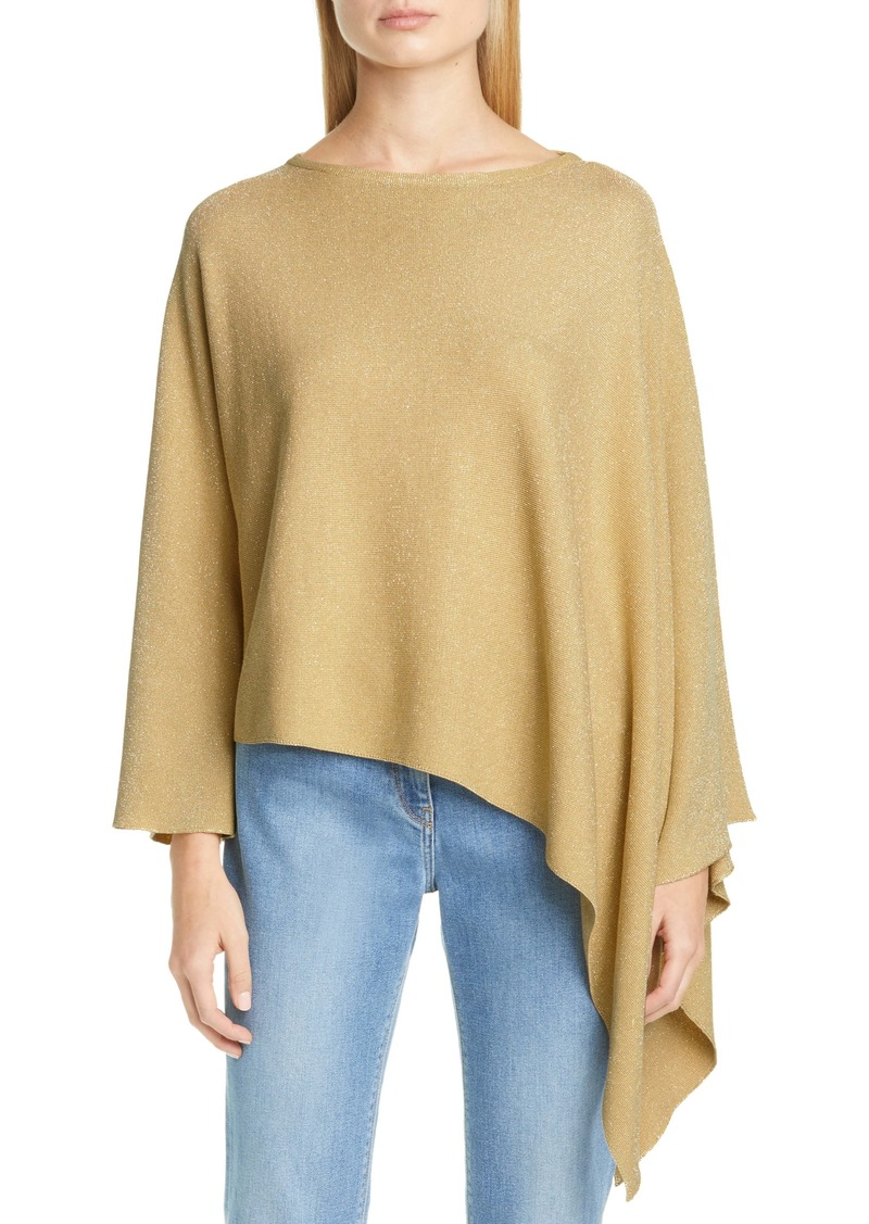 Fabiana Filippi Asymmetrical Metallic Cotton Blend Sweater
