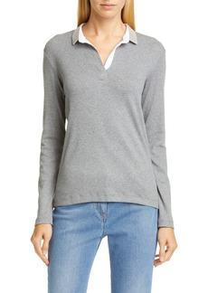 Fabiana Filippi Bead Collar Polo Shirt