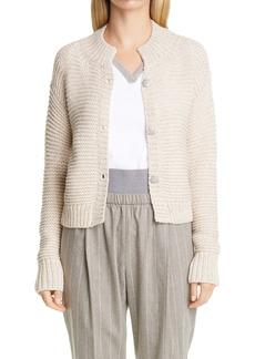 Fabiana Filippi Beaded Button Chunky Wool Blend Cardigan