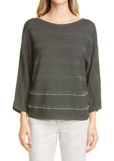 Fabiana Filippi Beaded Stripe Cotton Sweater