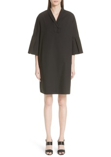 Fabiana Filippi Bell Sleeve Stretch Poplin Dress (Nordstrom Exclusive)