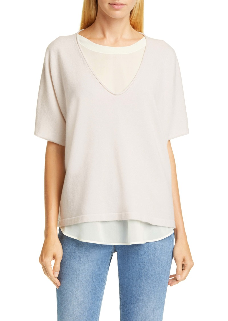Fabiana Filippi Chiffon Layer Cashmere Sweater