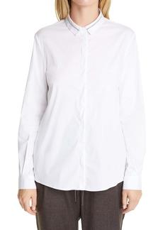Fabiana Filippi Embellished Collar Poplin Shirt