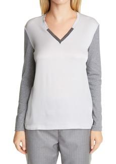 Fabiana Filippi Embellished Contrast Front T-Shirt
