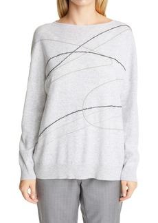 Fabiana Filippi Embellished Embroidery Wool, Silk & Cashmere Sweater