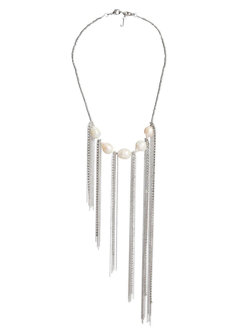 Fabiana Filippi Fringe Pearl Necklace