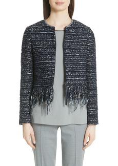Fabiana Filippi Fringe Trim Tweed Jacket