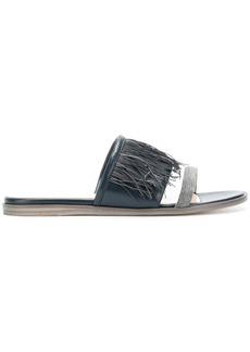 Fabiana Filippi fringed sandals - Blue