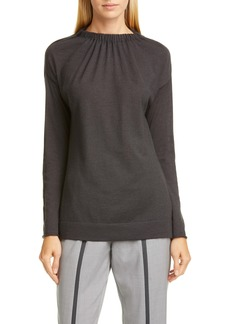 Fabiana Filippi Gathered Cashmere & Silk Sweater