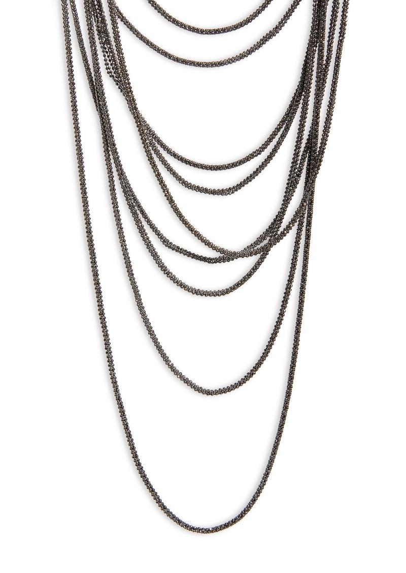 Fabiana Filippi Layered Multistrand Necklace